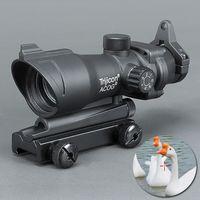 laser ponto vermelho para rifles venda por atacado-Trijicon ACOG 1X32 Visão Telescópica Red / Green Dot Mira A Laser 20mm Monta Visão de Âmbito para a caça