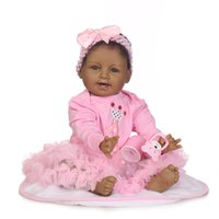 Wholesale Cheap Real Dolls - Black Silicone Baby Dolls For Sale Cheap Black Silicone Babies Newborn Baby Dolls That Look Real