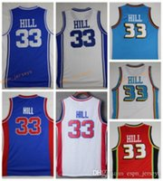 Wholesale New Jersey Drop Ship - 2017 2018 New Rugby Jerseys Free Drop Shipping Retro Throwback Duke Blue Devils Grant Hill College Jerseys 33 Grant Hill Blue Shirts Stitche