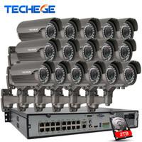 dôme de kit de vidéosurveillance achat en gros de-16CH 1080P NVR POE Kit W 16PCS 2.0MP POE Caméra IP 2.8-12mm Varifocal Système CCTV Onvif / P2P Cloud prend en charge PCMobile Voir