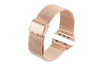 Wholesale apple watch milanese for sale - Group buy Original Link Bracelet strap Milanese Loop watchbands Stainless Steel band for apple watch mm Watchband For iWatch series