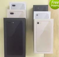 batería superior amarilla al por mayor-Nuevo envío gratuito de buena calidad Versión de EE. UU./UE Caja de embalaje del teléfono Cajas de paquetes vacías para iphone 6 6s 7 7p x 8 8plus o accesorios