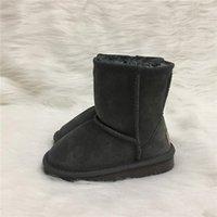 bottes de neige pour enfants de marque achat en gros de-Ventes chaudes chaussures de concepteur Garçons et Filles Australie Style Enfants Bottes De Neige Étanche Slip-on Enfants Hiver Vache Bottes En Cuir Marque Ivg