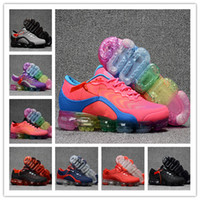 Wholesale full leather shoes for men - New style VaporMax Men Women Running Shoes For Men Sneakers Knitting Fashion outdoor trainers Athletic Sport Shoe Full palm air cushion