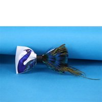 Wholesale peacock mens - Men Tie Natural Blue Peacock Feather Wedding Groom Groomsman Party Carnival Formal Occasion Appointment Mens Ties Western Style Clothes 29wj
