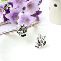 ingrosso grandi donne carine-Carino fascino animale lega perlina sciolto grande buco moda donna gioielli Stunning stile europeo per la collana del braccialetto Pandox