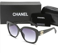 Wholesale french diamonds - 2018 New fashion french brand square frame sunglasses women popular diamond driving shopping sun glasses 9173 free shipping