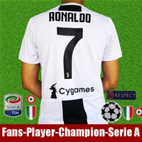 Wholesale football shirt kids kit - Thailand RONALDO juventus 2019 soccer jersey DYBALA 18 19 football kit shirt Top fans player version men women kids champion league Serie A
