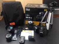 ücretsiz profesyonel video kameralar toptan satış-PROTAX Polo Sharpshots D7300 Dijital Kamera HD Kamera 33MP DSLR Kamera Geniş Açı Lens 24x Optik Teleskop Lens Ücretsiz DHL