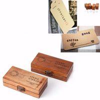 holz alphabet stempel gesetzt großhandel-Kreative Holz Siegel Großbuchstaben Alphabet Buchstaben Stempel Set Vintage