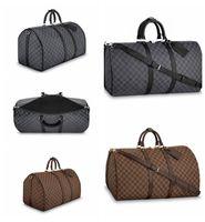 Wholesale leather travel bag for sale - Top quality mens luxury designer travel luggage bag men totes keepall leather handbag duffle bag brand fashion luxury designer bags