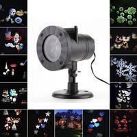 projetores de paisagem ao ar livre venda por atacado-12 Padrão Padrão LED Projetor de Luz Ao Ar Livre À Prova D 'Água Paisagem Jardim Lâmpada de Parede para o Dia Das Bruxas Natal férias