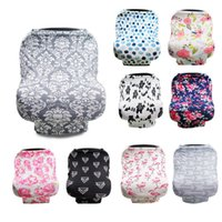 Wholesale trolley covers for sale - Group buy New Baby Floral Feeding Nursing Cover Lightweight Shopping Cart Grocery Trolley Covers Anti Sunlight Breastfeeding Privacy Scarf qk BB