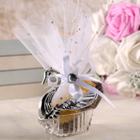 Wholesale silver swan favors resale online - New wedding favors Acrylic Silver Swan Sweet Wedding Gift Jewely Candy box Candy gift box Wedding Favors holders lin3746