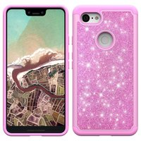 Wholesale alcatel skin case for sale – best Bling Glitter Shockproof Cell Phone Case Cover For Iphone XS XR XS MAX LG Q7 plus Alcatel TPU Skin case Oppbag