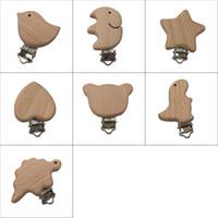 ingrosso clip di uccelli-Portacappelli per bambino ciuccio in legno naturale