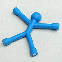 figuras magnéticas del refrigerador al por mayor-Color sólido Imanes de Nevera Hombres Q-man Qman Kids Ciencia Novedad Juguete Figura Magnética Oficina Refrigerador Papel Clip de Foto pegatina