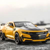 araba oyuncaklarını geri çek toptan satış-1:32 chevrole Camaro Alaşım Diecast Araç Modelleri KIDAMI Geri Çekin Koleksiyon Oyuncak Arabalar çocuklar için, sıcak tekerlekler doğum günü hediyesi