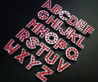 letras rojas de diapositivas de diamantes de imitación al por mayor-Nueva Moda 520 unids 8mm Full Rhinestone Rojo Letras de Diapositivas Ajustar 8mm Pet Dog Collars Wristband Accesorios de BRICOLAJE