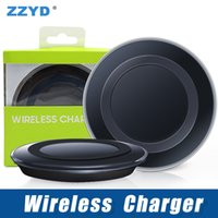 Wholesale qi wireless charger receiver iphone - ZZYD Universal Qi Wireless Charger Newest Charging Adapter Receiver For Samsung Note Galaxy S6 S7 Edge S8 mobile phone with package