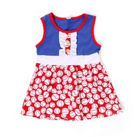 Wholesale america baby clothes resale online - New Fashion Baby Girls Dresses Children Sleeveless America Independence th July Costume Cute Kids Clothes