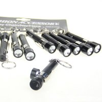 "Wholesale Metal Key Chain Pipe - 3.4""flashlight Shape Tobacco Pipes Flashing light aluminium pipe smoking pipe key chain smoking pipes aluminum pipe"