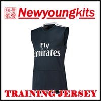 6beb18544 2018 19 Real Madrid Jersey 18 19 black squad Sleeveless Training Jersey  Football uniforms BENZEMA bale ASENSIO MODRIC soccer shirt