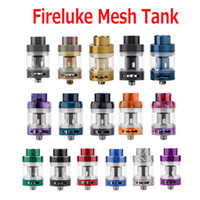 Wholesale fire carbon - Original Freemax Fireluke Mesh Tank 3ml Mesh Coil Sub ohm Atomizer 16 Colors Carbon Fire Resin Stainless Steel Types 100% Authentic