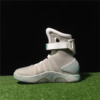 Wholesale Light Edition - Air Mag High Quality Brand Limited Edition Back To The Future Soldier Shoes LED Luminous Light Up Men Shoes Fashion Led shoes