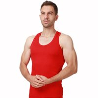 Wholesale Wholesale Men Vests - 2017 Manufacturer Wholesale Men's Modal Vest Large Size High Elasticity Sports Fitness Vest Multicolor Modal L-6xl