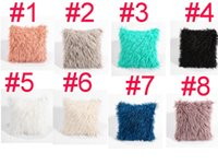 Wholesale cooler seat cushion - 8 colors home decor soft waist car seat fur plush cushion cover throw fashion pillow cases