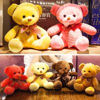 ingrosso orsacchiotti in vendita-Vendita calda Teddy Bears Peluche per bambini Giocattoli 7 pollici Cute Cartoon Dolls Regali per i bambini piccoli