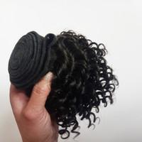 cabelo encaracolado curly chinês venda por atacado-Cabelo Weave Kinky Curly Natural Preto # 1 # 1B Atacado virgem Brasileiro Malásia Peruano Chinês Indiano vietnamita Fonte Do Cabelo Atacadista