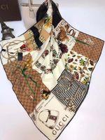 Wholesale lace hijab scarves - 2018 Pink Leopard Hijab Scarf Women Luxury Brand Silk Scarfs Foulard Square Head Wraps 2017 New Fashion Shawl Manufacturer 90*90cm