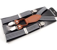 Wholesale Children Boy Clips Suspender - Fahion Unisex Kids Boy Girls Clip-on Suspenders with Adjustable Elastic Braces Children Apparel Accessories 6 colors