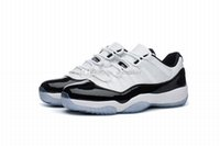 ingrosso nero 11s basso-Scarpe da pallacanestro Low Concord 2018 uomo e donna di alta qualità 11 in vendita Sneaker nero / bianco 11s