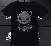 plus größenneuheitst-shirts großhandel-Garfield Skull T-Shirt Neuheit Coole Tops Herren Kurzarm Panda T-Shirt Herren Kurzarm T-Shirt Baumwolle Herren 100% Baumwolle Plus Size
