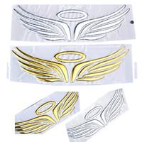 diseño de toyota al por mayor-Alas de ángulo Diseño de navegación 3D PVC suave Car Styling Sticker calcomanía Emblemas divertidos para Toyota VW Accesorios 16cm * 5cm