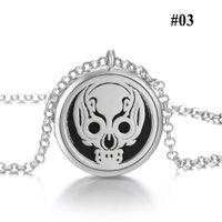 Wholesale premium heart - Premium Aromatherapy Essential Oil Diffuser Necklace Locket Pendant Jewelry with 80cm Chain Skull Pendant Necklace Wholesale