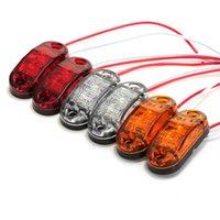 rote led-auto-seitenmarkierungen großhandel-Niedrigster Preis 1 Stücke Weiß / Rot / Gelb Seitenmarkierungs LED-Licht Für Autos Lkw Anhänger Umrissleuchte 12 v / 24 v