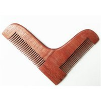 Wholesale beard shapes - Men s Shaving Redwood L Beard Shaping Tool Beard Modeling Template Carding Tool Beard Trimmer Comb