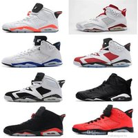 Wholesale Cat Bowl Black - air retro 6 mens Basketball shoes Carmine Black Cat Infrared sports blue Maroon Olympic Alternate Hare Oreo Chrome Angry bull sneakers