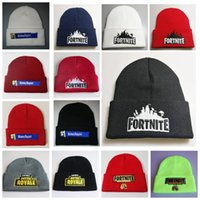 Fortnite Battle Knitted Hat Fashion Hip Hop Embroidery Knitted Costume Cap  Winter Kids Soft Warm Skuilles Outdoor Beanies 13 styles MMA724 fa7a743c7d19