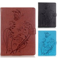 Wholesale ipad sleep wake mini online - Auto Sleep Wake Up Leather Case for iPad Pro9 Air Mini Butterfly Emboss Tablet PC Cases with Magnetic buckle
