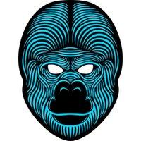 kostümler goriller toptan satış-Gorilla LED Müzik Maske Ses Kontrolü EL Maske Soğuk Işık Cadılar Bayramı Noel Cosplay Light Up Festivali Dans Partileri Kostüm