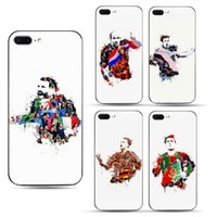 Wholesale Soccer Phone Covers - For iPhone 6 6S Plus 7 8 plus X Full Protective Phone Case Back Cover Case TPU Soft Shell with Football Soccer Star pattern