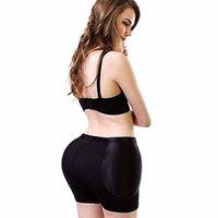 Wholesale sexy bikini butts - RQRRSQ sexy women bottom up panties push hip up underwear womens butt enhancer plus size mid-rise female stable padded panties