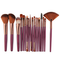 Wholesale eyebrow shaped for sale - 18Pcs set cosmetic Makeup Brushes Set professional makeup brush Eyeshadow Eyebrow Eyeliner lip brush fan shape foundation powder brush