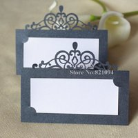 Wholesale wedding table name holders for sale - Group buy 30pcs Hot sale Laser cut Party Table Name Card Crown design Place RSVP Cards Wedding Invitation Table holder cards