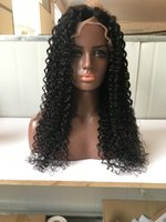 Wholesale unprocessed virgin deep curly wig resale online - Lace Front Wigs water wave Full Lace Wigs deep curly Baby Hair Brazilian Bleach Knots Unprocessed Virgin Human Hair